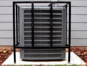 Outdoor security cage for HVAC equipment in Atlanta