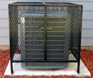 Equipment Security cage for outdoor HVAC equipment in Atlanta